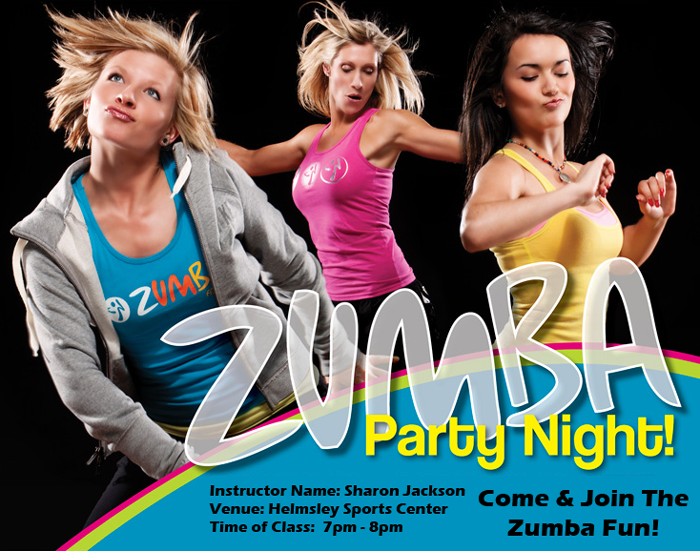 Zumba Flyer Printer Free Artwork Design And Postage On All Zumba